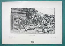 LYNCH LAW in Wild West - 1901 Offset Litho Print