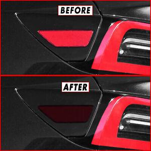 FOR 17-21 Tesla Model 3 Tail Light Side Marker Reflector SMOKE Vinyl Tint