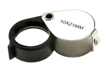 Jeweler's Loupe Magnifier Magnifying Glass 10X Handheld Folding Metal 21 mm