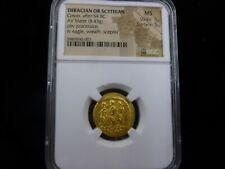 BC 54 GOLD Thracian or Scythian AV Stater MS 5/5 & 5/5 RARE in this Grade!