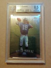 1998 TOPPS FINEST #121 PEYTON MANNING ROOKIE BGS 8.5 NM-MT+ 2-9.5s! REGRADE THIS