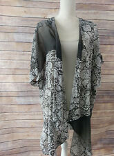 Bryn Walker Brown/Ivory  Lightweight  Cotton Silk Blend Esme Cardigan     L
