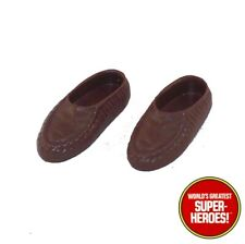 "Mego Planet of the Apes Brown Moccasins Shoes For POTA 8"" Figure Parts Lot"