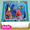 PRECUT EDIBLE ICING 7.5 INCH NEMO & FRIENDS BIRTHDAY SQUARE CAKE TOPPER NS1650