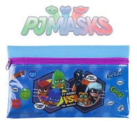 PJ Masks Flat Pencil Case With Zip Official Back to School PVC Stationery 21cm