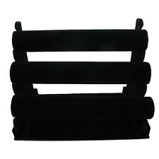 High Quality 3-Tier Black Velvet  Jewelry Bracelet Watch Display Rack Holder