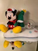 Disney Mickey & Minnie Mouse Snow globe Dancing Christmas Music Jingle Bells