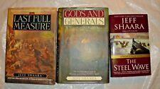 3 BOOKS JEFF SHAARA STEEL WAVE/GODS & GENERALS/LAST FULL MEASURE SIGNED
