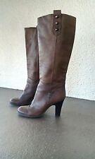 FRANCO BARBEIRI Brown STUDDED LEATHER boots sz 6 1/2 m