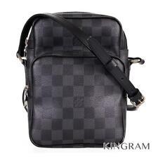 LOUIS VUITTON Damier Graphite Rem N41446 PVC Men's Shoulder Bag from Japan