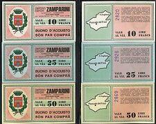 BUONI ACQUISTO 1977 EMPORIO ZAMPARINI ZUGLIANO-UDINE/ITALIANO-FRIULANO 3 PZ