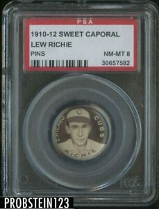 1910-12 Sweet Caporal P2 Pin Lew Richie Chicago Cubs PSA 8 NM-MT