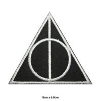 Harry Potter Deathly Hallow Symbol Embroidered Patch Iron on Sew On Badge