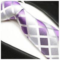 Paul Malone Herren Fliege Schleife lila violett uni satin 941