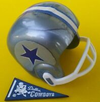 1967 NFL DALLAS COWBOYS Vintage mini gumball football helmet Tudor PENNANT AFL