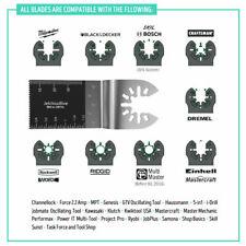 10PCS Bi-Metal Oscillating Multi-Tool Saw Blades Carbon Steel Cutter Universal