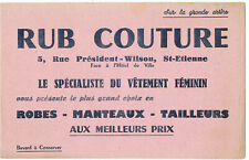 ancien buvard publicitaire Rub-couture Saint Etienne Loire