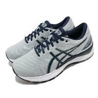 Asics Gel-Nimbus 22 2E Wide Grey Navy Men Running Shoes Sneakers 1011A685-025