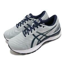 Asics Gel-Nimbus 22 2E Ancho Gris Azul Marino Hombres Running Zapatos TENIS 1011A685-025
