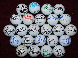(24) 2002 PGA SENIOR CHAMPIONS TOUR signed GOLF BALLS - PRO USED/UNUSED - NICE