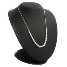 EPIPHANY Platinum Clad Diamonique 7.80 ctw Frontal Tennis Necklace $299