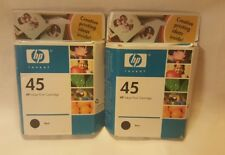 Genuine HP No. 45 Black Ink Cartridge Twin Pack (51645A) - Expired 02/2006