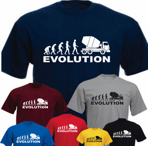 Ape Human Concrete Lorry Truck Evolution HGV Driver New Funny T-shirt Gift