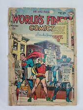World's Finest Comics #63 DC Comics 1953 Golden Age (DAMAGE)