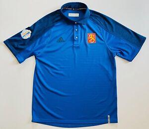 Adidas Finland 2016 World Cup Hockey Men's Medium Climalite Polo Shirt