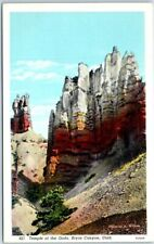 "BRYCE CANYON NATIONAL PARK Utah Postcard ""Temple of the Gods"" Curteich Linen"