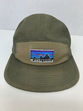 Patagonia Retro Fitz Roy Label Tradesmith 5 Panel Hat Cap - Fatigue Green '16