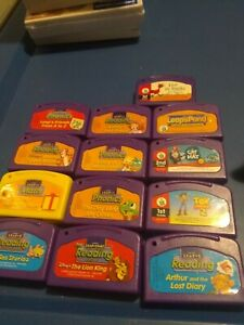 Lot of 13 LEAPFROG Leappad toy story Arthur Lion King more  Cartridges