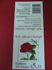 1993 MINT/MNH RED ROSE BOOKLET of 18 29 cent US Postage Stamps  #2490a