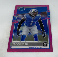 Jeff Okudah 2020 Donruss Optic Rated Rookie #193 PINK Prizm Refractor Lions RC
