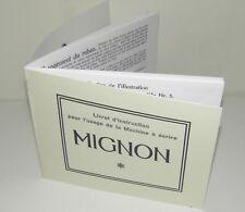 Mignon AEG Typewriter Machine à écrire FRENCH Instruction Manual Reproduction