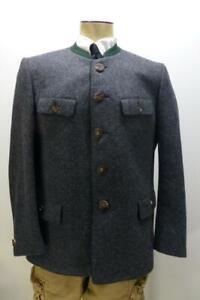 LODEN FREY Muchen Groenbach Grey Coat Antler Buttons Wool Blazer jacket mens 50