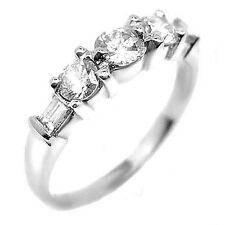 0.80 ct ROUND BAGUETTE DIAMOND PLATINUM WEDDING BAND