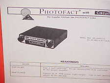 1973 MUNTZ CAR 8-TRACK STEREO TAPE PLAYER/FM MPLX RADIO SERVICE MANUAL M-884