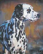 Dalmatian CANVAS art PRINT of LAShepard dog painting  LSHEP  8x10""