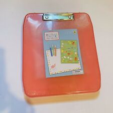 1 Kit On-the-go Activity Set For Education Purpose With Pink Travel Clip Board.