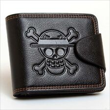 Anime One Piece Luffy Black PU Wallet/Purse Embossed with Luffy's Skull Mark