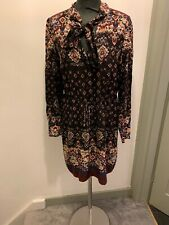 Oasis Boho Tie Front Dress Size 12 BNWT Read Description