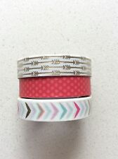 Washi Tape White Gradient Red Slim Tapes 8mm x 8m MT318