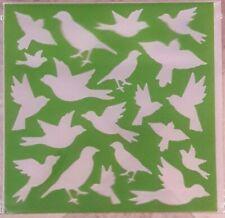 BIRDS Stencil Washable Reusable Plastic 6