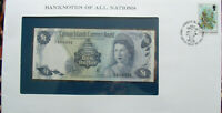 Banknotes of All Nations Cayman Islands 1b Dollar 1971 UNC P-1 Birthday 1963