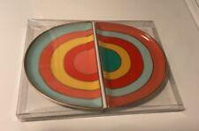 Oh Joy! Rainbow Ceramic Small Plates 2 Pack NEW