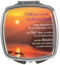 """Taschenspiegel """"Gott gebe mir die Gelassenheit...""""  - Metall (*NEU*)"""