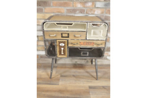 multi colour Vintage Industrial Cabinet 7 Drawers Retro style Storage Chest