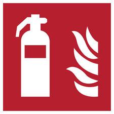 Brandschutz Premium Aufkleber Feuerlöscher 15x15cm DIN EN ISO ASR nachleuchtend