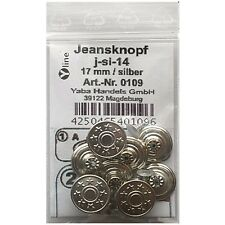 Jeans Knopf 10 stück mit Niete  gold silber           knöpfe 18 mm #568#